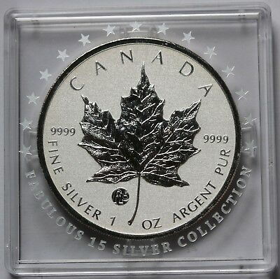 2011 Canada $5 F15 Privy Mark Silver Maple Leaf 1oz .9999 Fabulous 15 BU Coin
