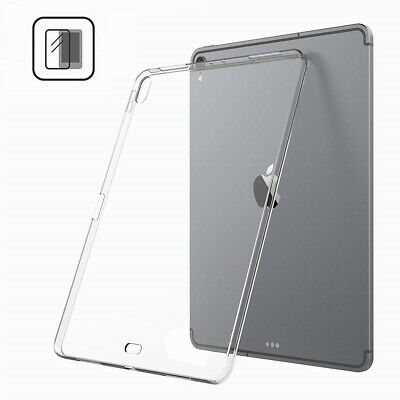 For New iPad Pro 12.9'' 11'' 2018 Ultra Thin Crystal TPU Clear Shockproof Case