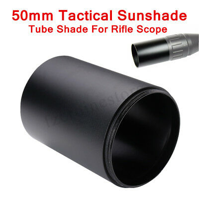 50mm Tactical Hunting Alloy Advanced Optic Sunshade Tube Shade For Rifle Scope