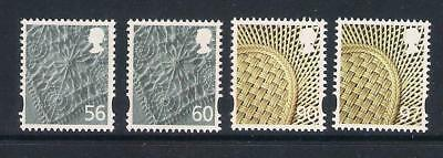 GB 2009/10 Regional Definitives, Northern Ireland, 56p, 60p, 90p and 97p, MNH