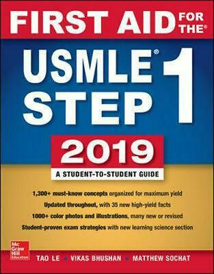 First Aid for the USMLE Step 1 2019, Twenty-ninth edition by Tao Le Paperback Bo
