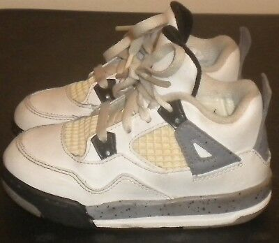 b4b18fc5296f ... 2011 nike air jordan retro 4 white cement grey toddler size 7.5c 308500  103