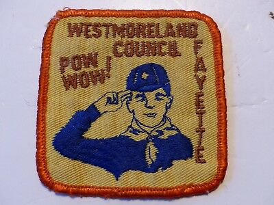 Used 1960's Cub Pow Wow! Westmoreland Fayette Council Penna. Boy Scout Patch BSA