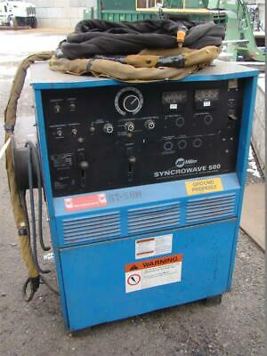 MILLER AC/DC CC Tig Welder (1PH, 200/230/460v) Syncrowave 500 Water cooled  Torch