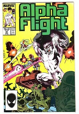 Alpha Flight 51 (10/87) VF+ condition 1st Jim Lee Artwork for Marvel Comics