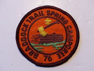 1976 Braddock Trail District Campo Westmoreland Fayette Council Boy Scout Patch