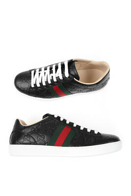 6195d6969e Scarpe Sneaker Gucci Shoes Pelle MADE IN ITALY Donna Nero 387993CWCG0 1070