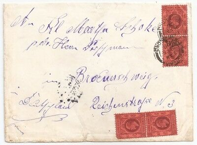 1906 Hong Kong To Germany Cover, Scarce Franking, High Value, L@@k