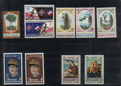 New Hebrides 1969-70 Five very lightly mounted mint sets