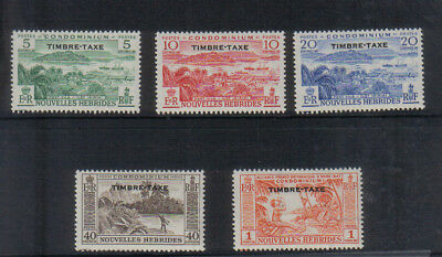 New Hebrides 1959 Postage Due set very lightly mounted mint