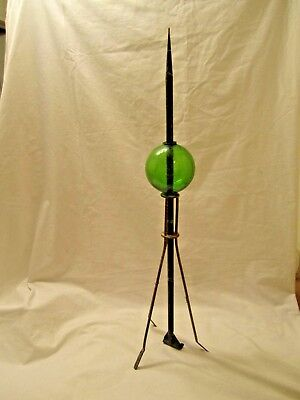 Old Original 7-Up Green Lightning Rod Weathervane Ball