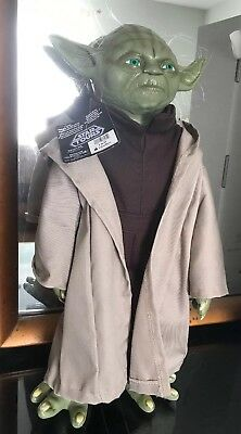 "Star Wars Yoda Figure Star Tours 18"" Sculptured latex facehandsfeet Disney Store"