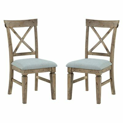 Emerald Home Valencia Cross Back Dining Chair - Set of 2