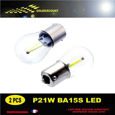 p21w led cob 6000k blanc pur protection verre new 2018 qualite  eclairage top
