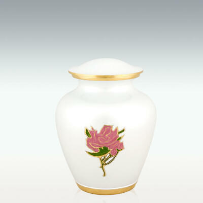 Perfect Memorials Small Pearl Rose Brass Cremation Urn