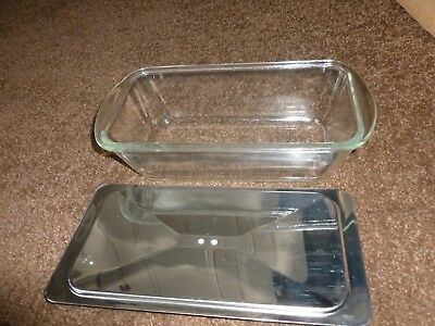 Ecko Heated Hostess Trolley Lidded Glass 'Glasbake' Serving Dish