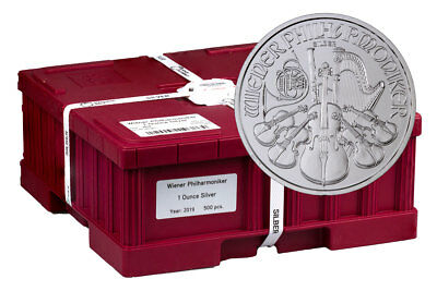 Monster Box of 500 2019 Austria 1 oz Silver Philharmonic GEM BU SKU55552