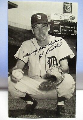 "1950 Signed Photo Postcard  "" Very Best Wishes "" Al Cicotte Detroit Tigers Unuse"