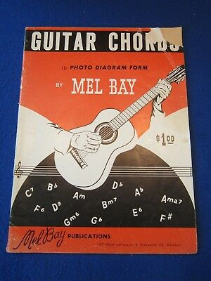 Guitar Chords Book By Mel Bay 1959 Instructions Learning To Play Musical Manual