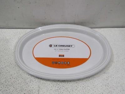 "Le Creuset Oval Serving Platter - 14.25"" - White"