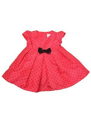 aea2d86da290b Carters Infant Girls Red & Black Polka Dot Bow Christmas Holiday Party Dress  3M