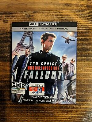 Mission Impossible Fallout 4 K Ultra HD + Blu-ray + Digital with slipcover