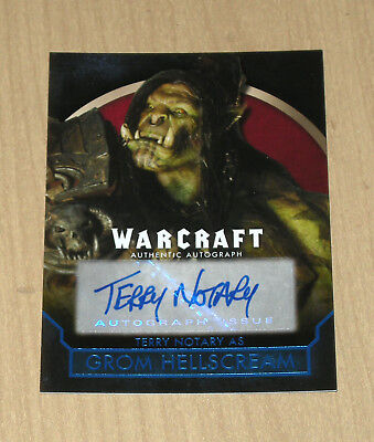 2016 Topps Warcraft BLUE auto autograph Terry Notary 31/50