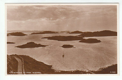 The Badcaul Islands Scourie Sutherland JB White A2181 Old Postcard Unposted
