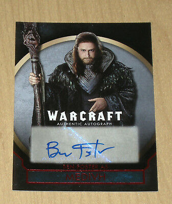 2016 Topps Warcraft RED auto autograph Ben Foster 14/25