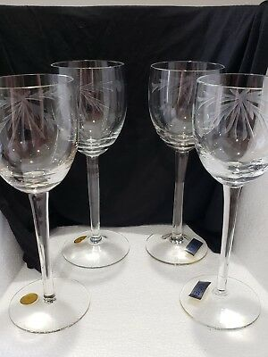 Toscany Crystal Hand Blown Romania Crystal Wine Glasses