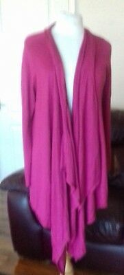 M&s Maternity Waterfall Cardigan sz large in fuschia