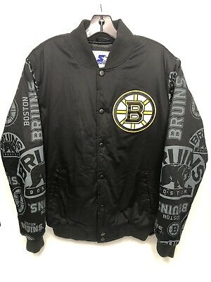 VINTAGE 90 S BOSTON BRUINS Starter Center Ice Jacket Size Medium NHL ... 4e4d1bc66