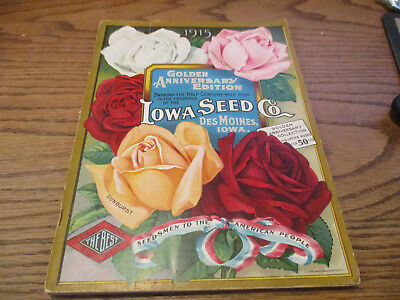 1915 Iowa Seed Co Outstanding Color Plates Large Folio Excellent!