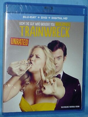 Blu-ray + DVD + Digital HD ~  Trainwreck ~ Unrated Amy Schumer, Bill Hader,  NEW