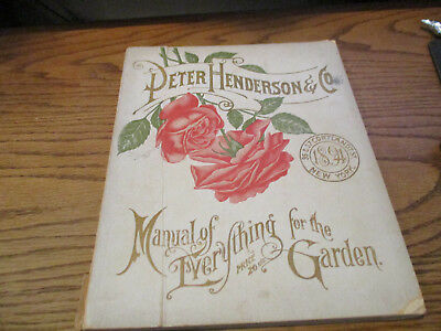 1894  Peter Henderson Huge Catalog With Color Plates!