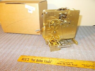 '93 Howard Miller Hermle 1050-020 Triple Chime 8 Day Movement, Factory Box