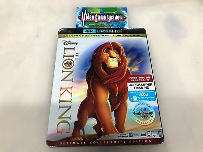 The Lion King (Blu-ray/4k Ultra HD, 2017, 2-Disc Set) NO DIGITAL CODE