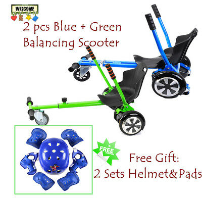 "2x Adjustable Holder Two wheel Balancing Seat Scooter Kart Hover Cart 6.5"" 8""10"""