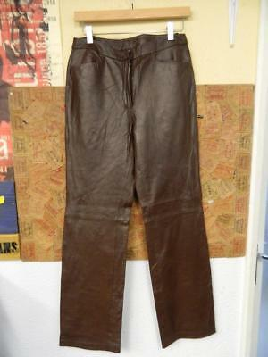 Vintage 1990's Chadwick's Geuine Leather High Waisted Trousers - W30xL32 size 8