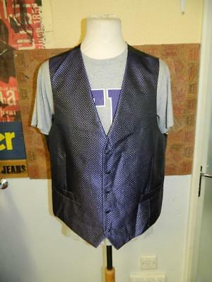 Vintage 1990s M&S Purple and Sparkly Waistcoat- XL - magician stylee