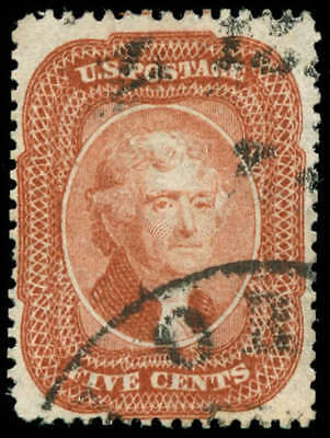 momen: US Stamps #27 Brick Red Used PF Cert VF