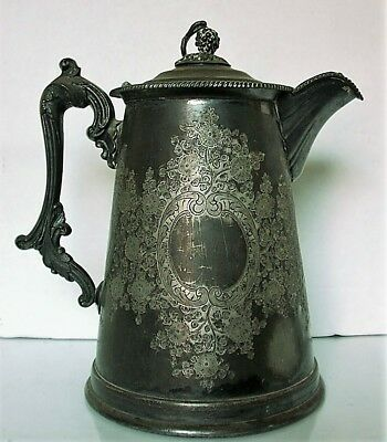 Antique 1858 Rogers. Smith & Co. New Haven Conn. double wall pitcher