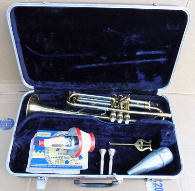 1960's Reynolds Medalist Trumpet For parts w/ Hard Case + Bach & RMC Mouthpiece