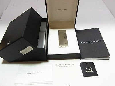 DUNHILL Rollagas Lighter d Mark Silver Gas leaks W/4p O-rings W/Box & Guarantee