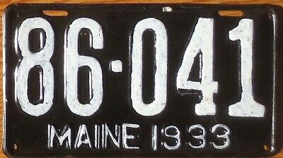 1933 Maine License Plate Number Tag - $2.99 Start