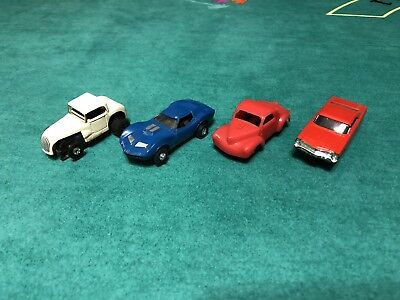 Lot Of 4 Aurora T-jet Slot Cars All Working And Good Runners