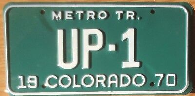 1970 Colorado License Plate Number 1 Tag - $2.99 Start