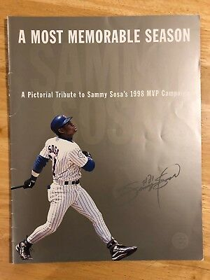 1998 Sammy Sosa Chicago Cubs Pictorial Tribute to MVP Season Baseball OLD