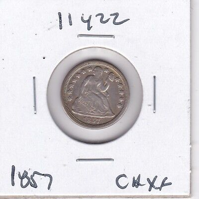 Kappyswholesale  Id11422 1857  Seated Liberty Dime Nice Ch Ef Xf Almost Au