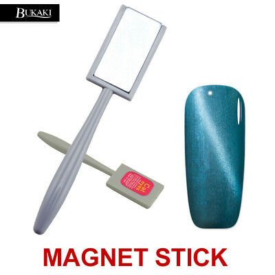 BUKAKI Double-headed Plate Magnet Pen Nail Tool for All 3D Cat Eyes Gel Polish